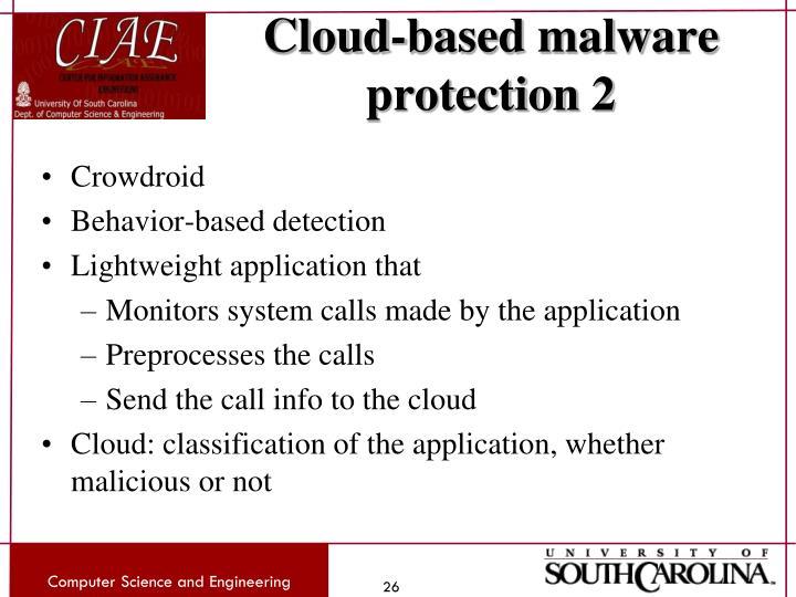Cloud-based malware protection 2