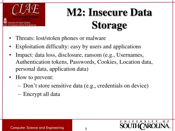 M2: Insecure Data Storage