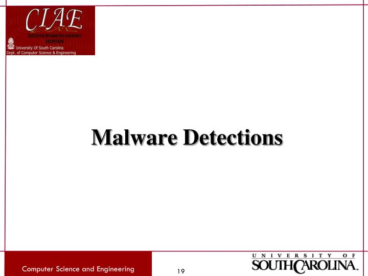 Malware Detections