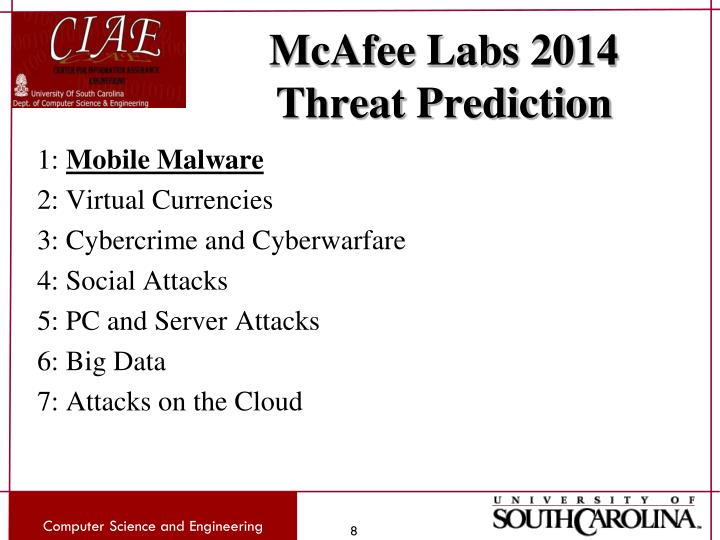 McAfee Labs 2014 Threat Prediction