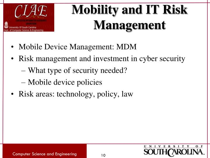 Mobility and IT Risk Management