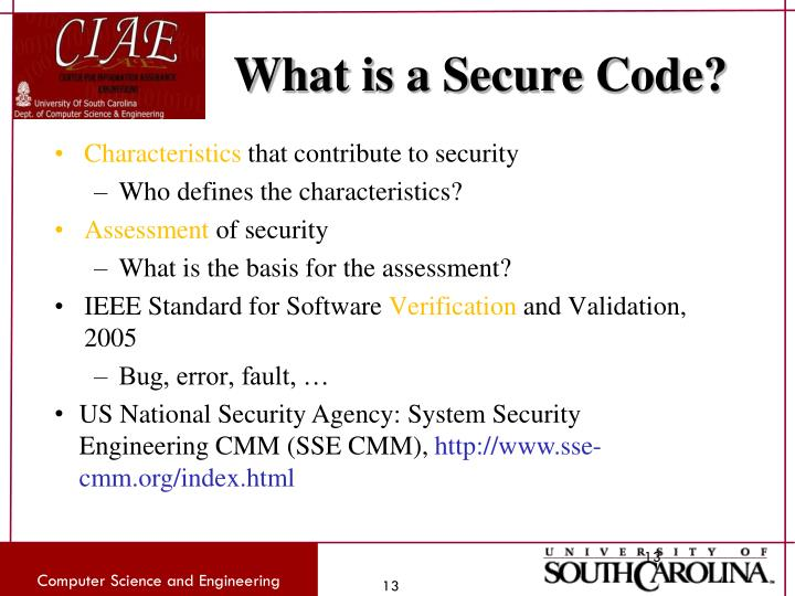 What is a Secure Code?