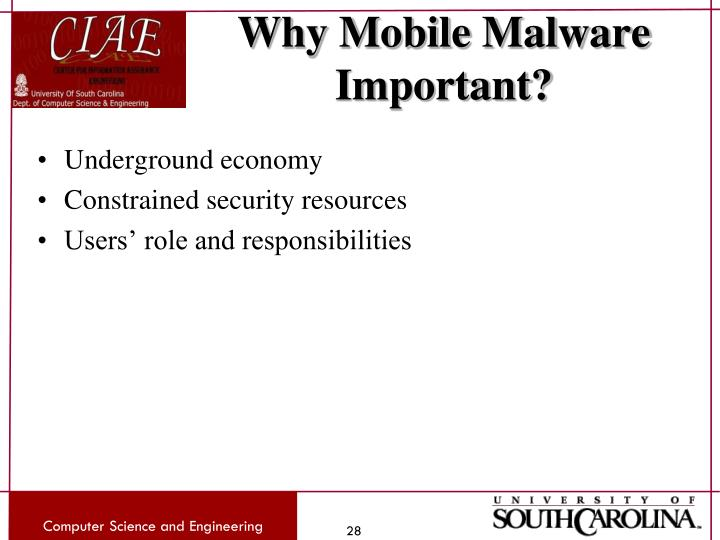 Why Mobile Malware Important?
