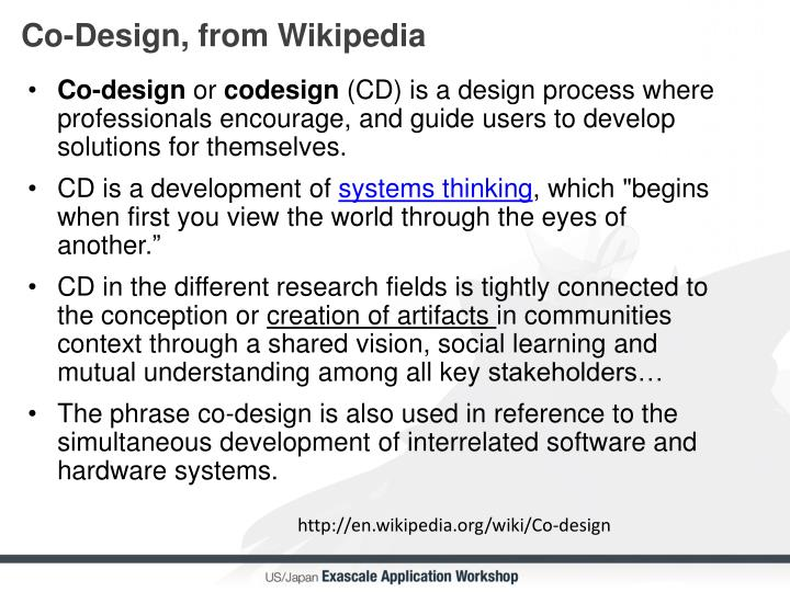 Co-Design, from Wikipedia