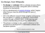 co design from wikipedia