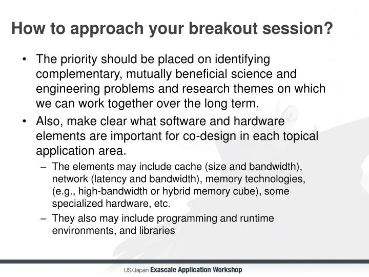 How to approach your breakout session?