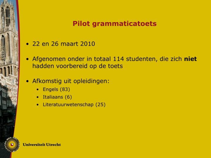 Pilot grammaticatoets