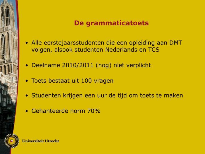 De grammaticatoets