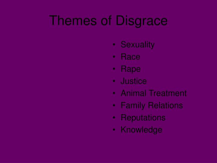 Themes of disgrace