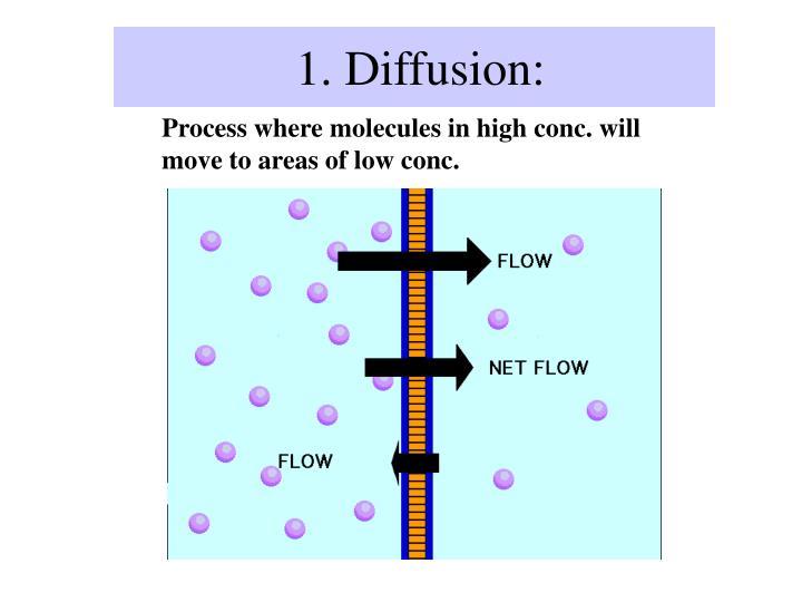 1. Diffusion: