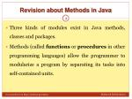 revision about methods in java