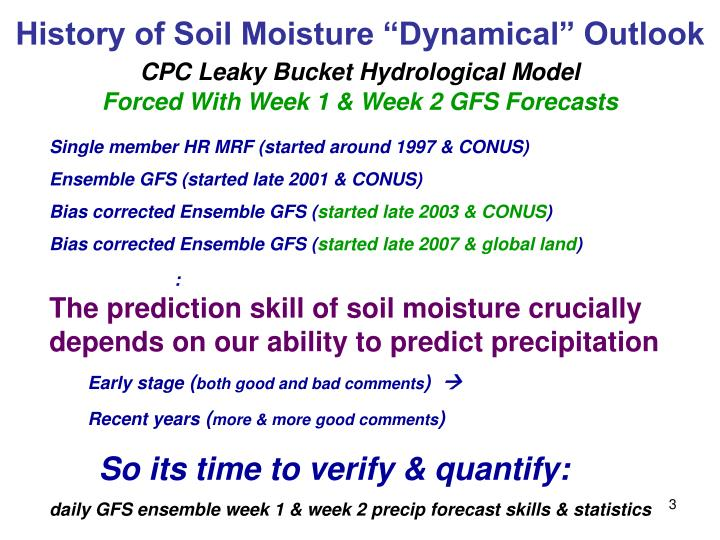 "History of Soil Moisture ""Dynamical"" Outlook"