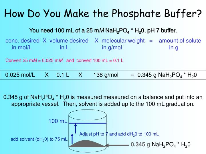 How Do You Make the Phosphate Buffer?