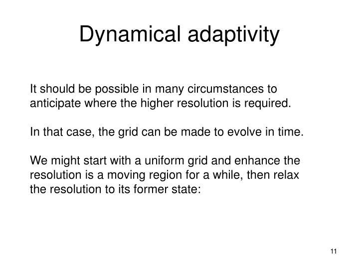 Dynamical adaptivity