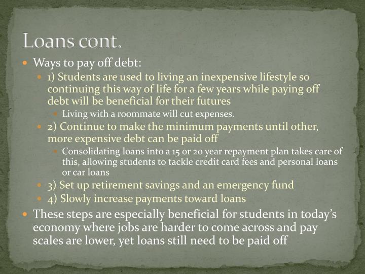 Loans cont.