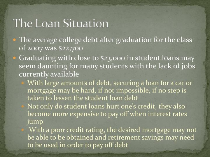 The Loan Situation