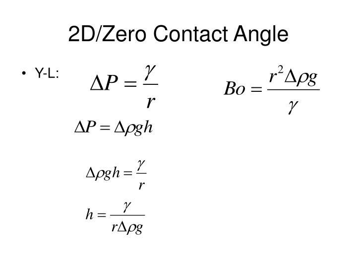 2D/Zero Contact Angle