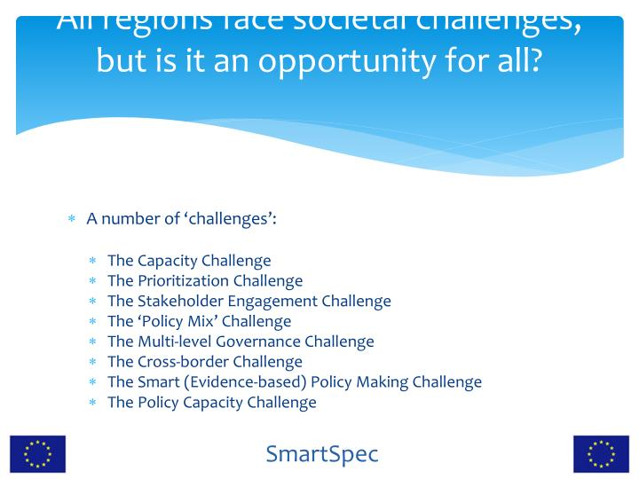 All regions face societal challenges, but is it an opportunity for all?