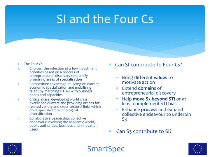 SI and the Four Cs
