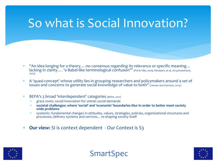So what is Social Innovation?