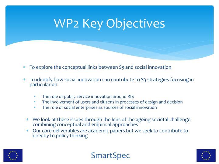WP2 Key Objectives