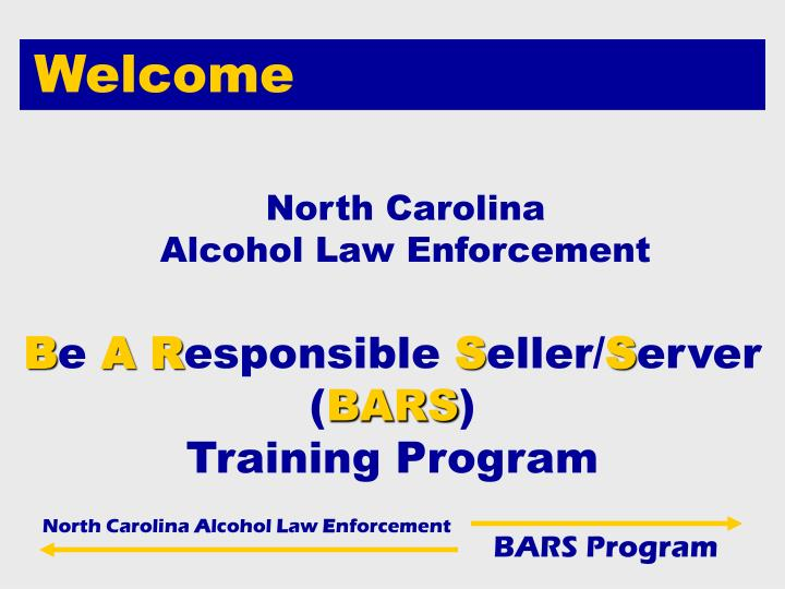 B e a r esponsible s eller s erver bars training program