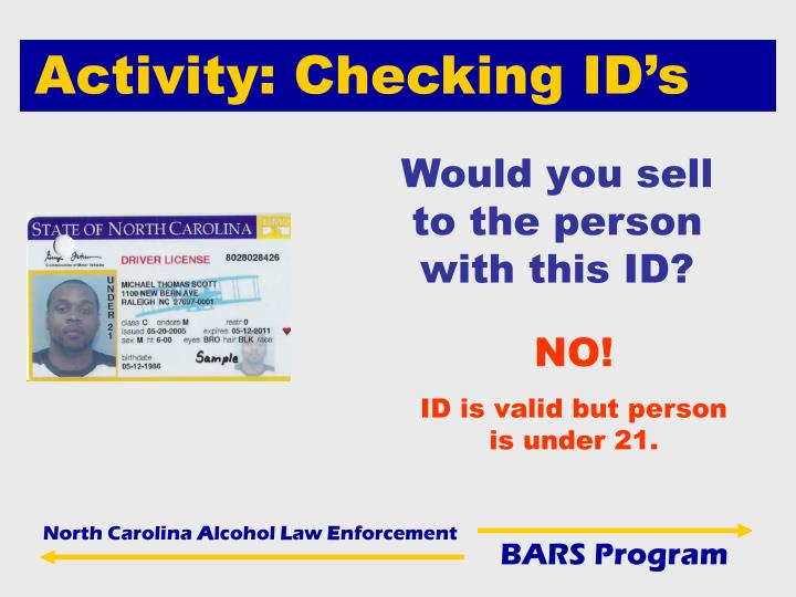 Activity: Checking ID's