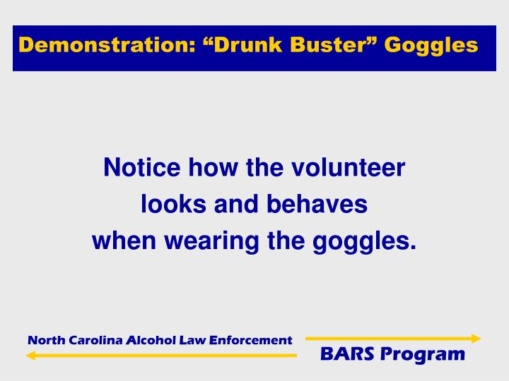 "Demonstration: ""Drunk Buster"" Goggles"