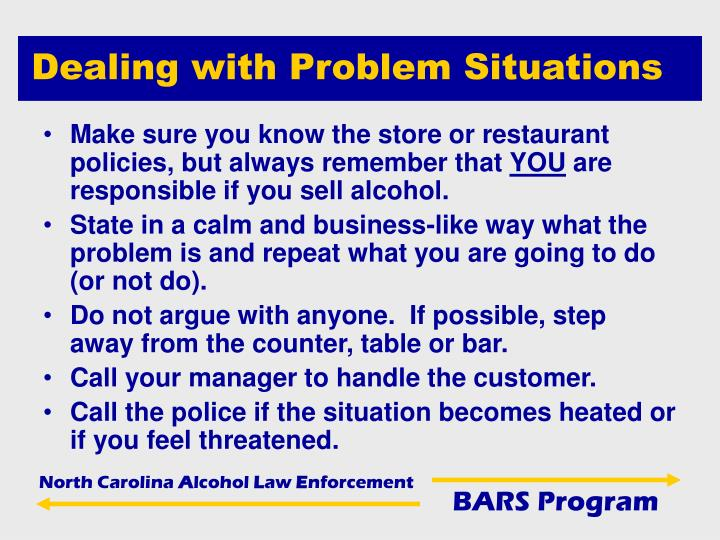 Dealing with Problem Situations