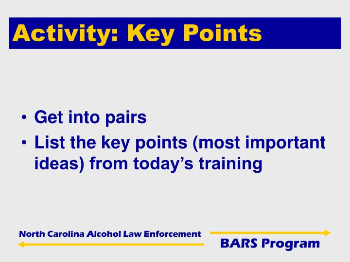 Activity: Key Points