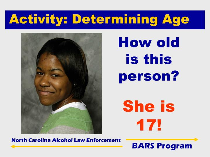 Activity: Determining Age