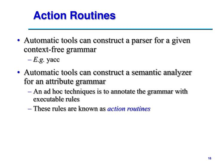 Action Routines