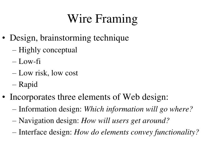 Wire Framing