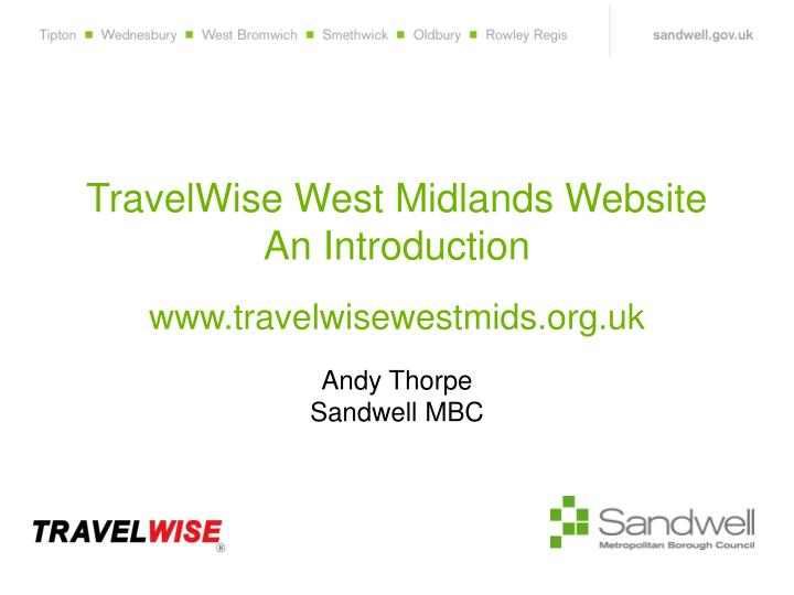 TravelWise West Midlands Website