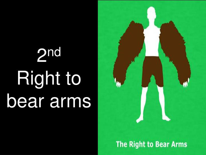 2 nd right to bear arms