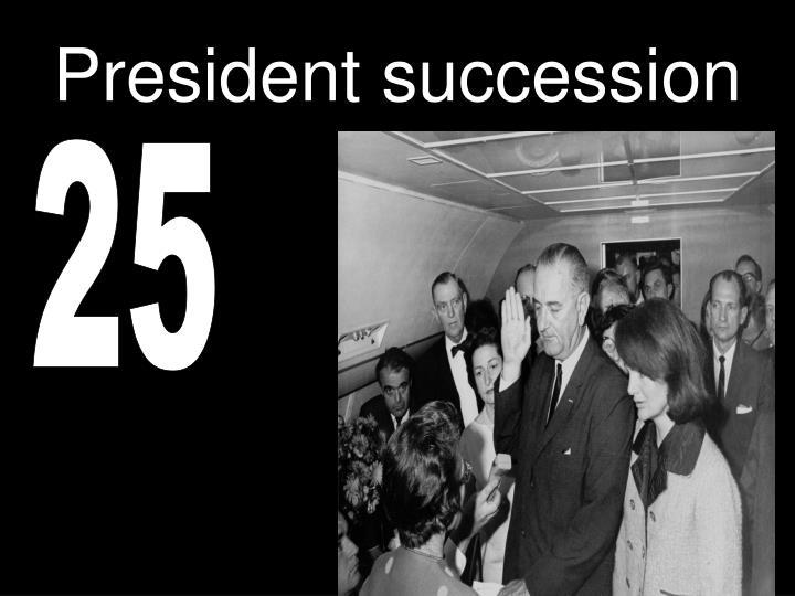 President succession
