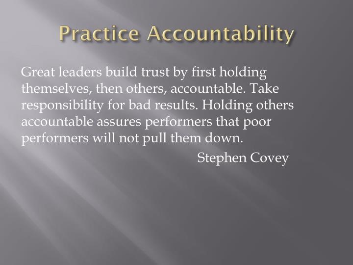 Practice Accountability