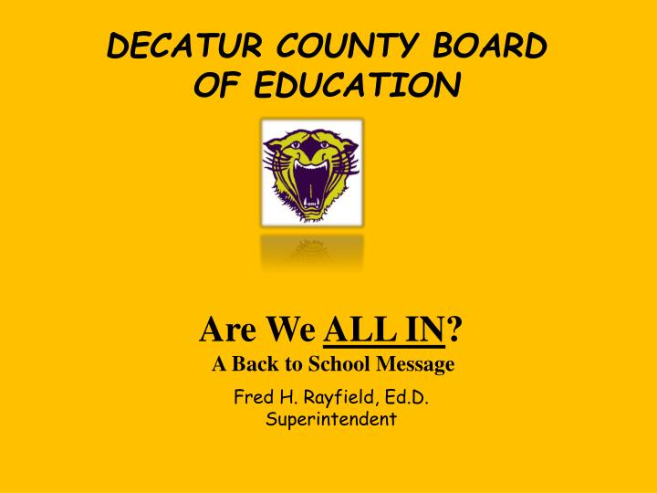 DECATUR COUNTY BOARD