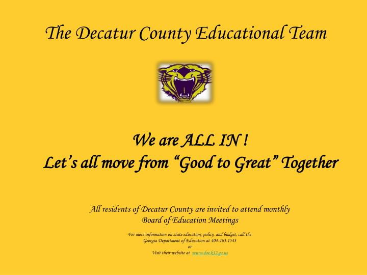 The Decatur County Educational Team