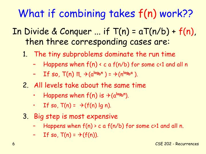 What if combining takes