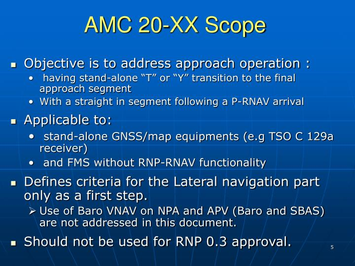 AMC 20-XX Scope
