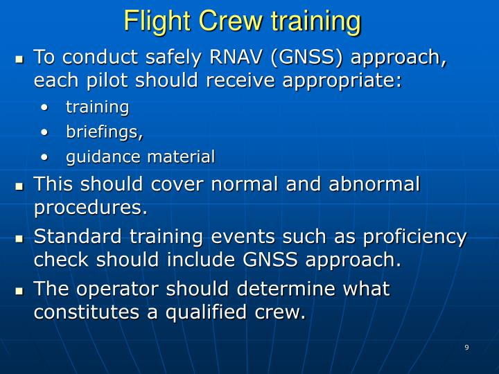 Flight Crew training