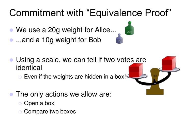 "Commitment with ""Equivalence Proof"""