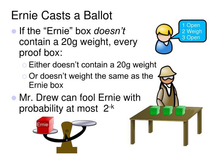 Ernie Casts a Ballot