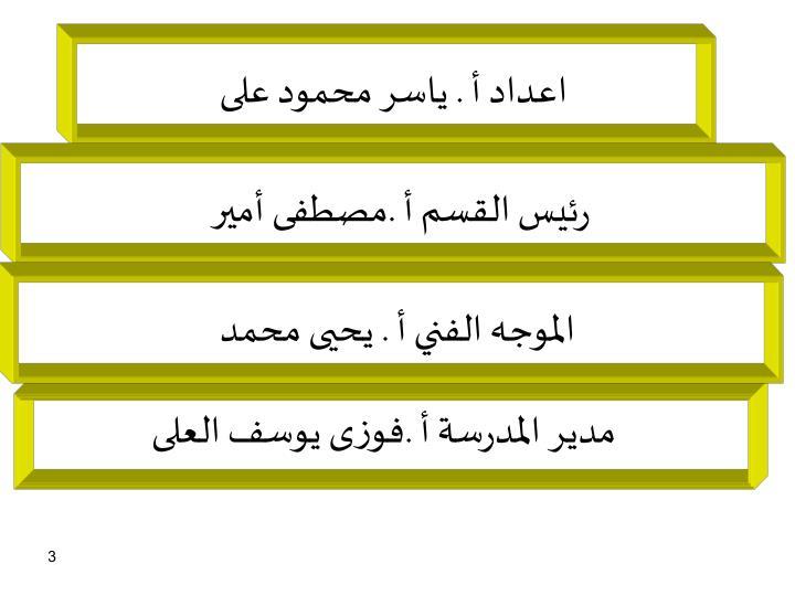 اعداد أ . ياسر محمود على