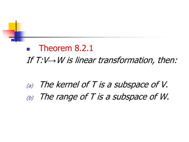Theorem 8.2.1