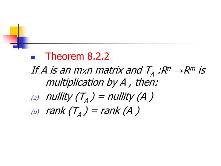 Theorem 8.2.2