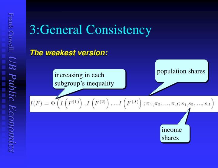 3:General Consistency