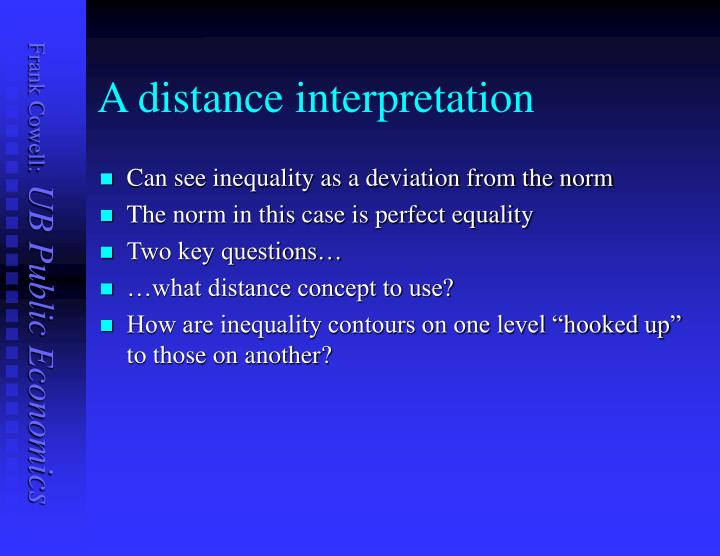 A distance interpretation