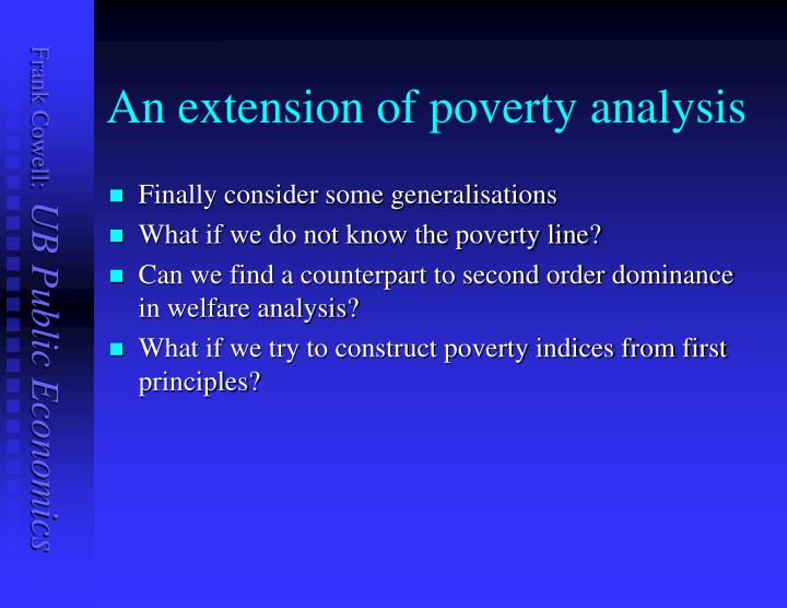 An extension of poverty analysis